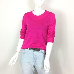 J. Crew fuchsia wool mix lightweight sweater M